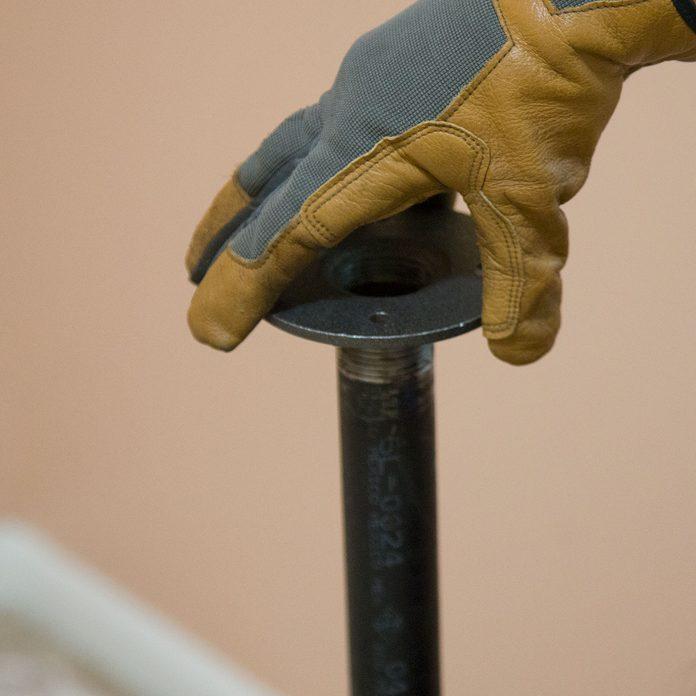 pipe desk add floor flange