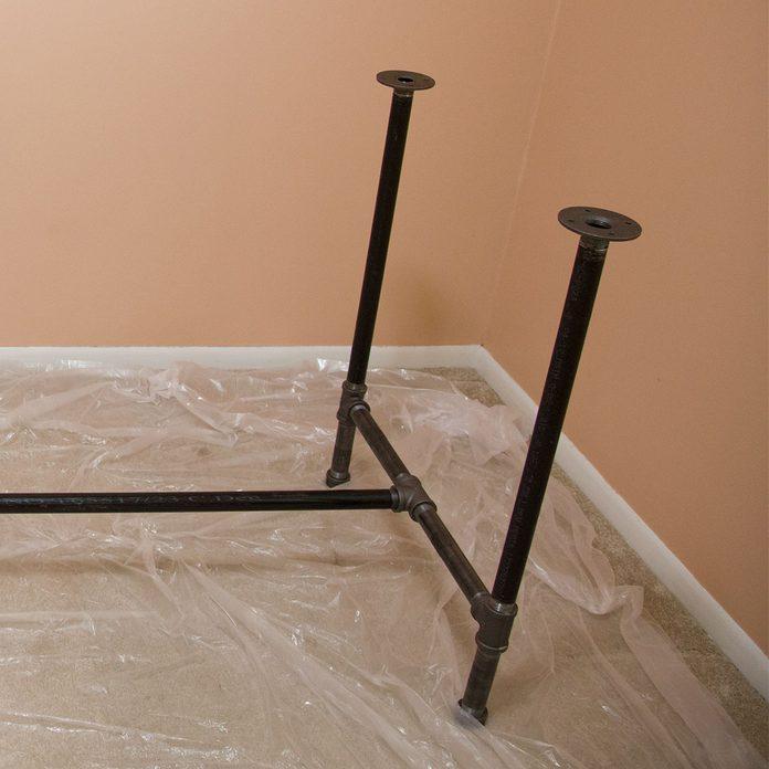 pipe desk leg assembly complete
