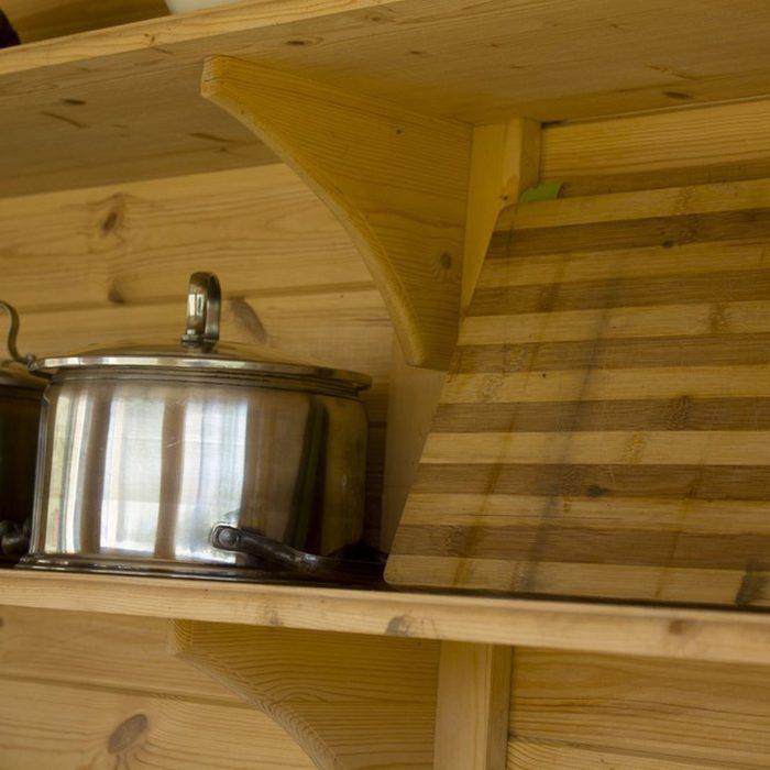 Open Cabinet Shelves