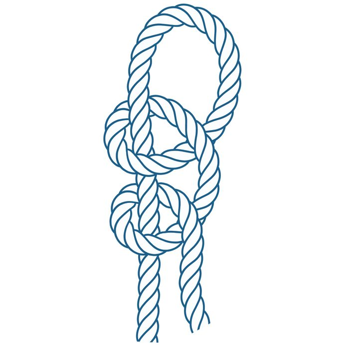 knots-01 double half hitches knot