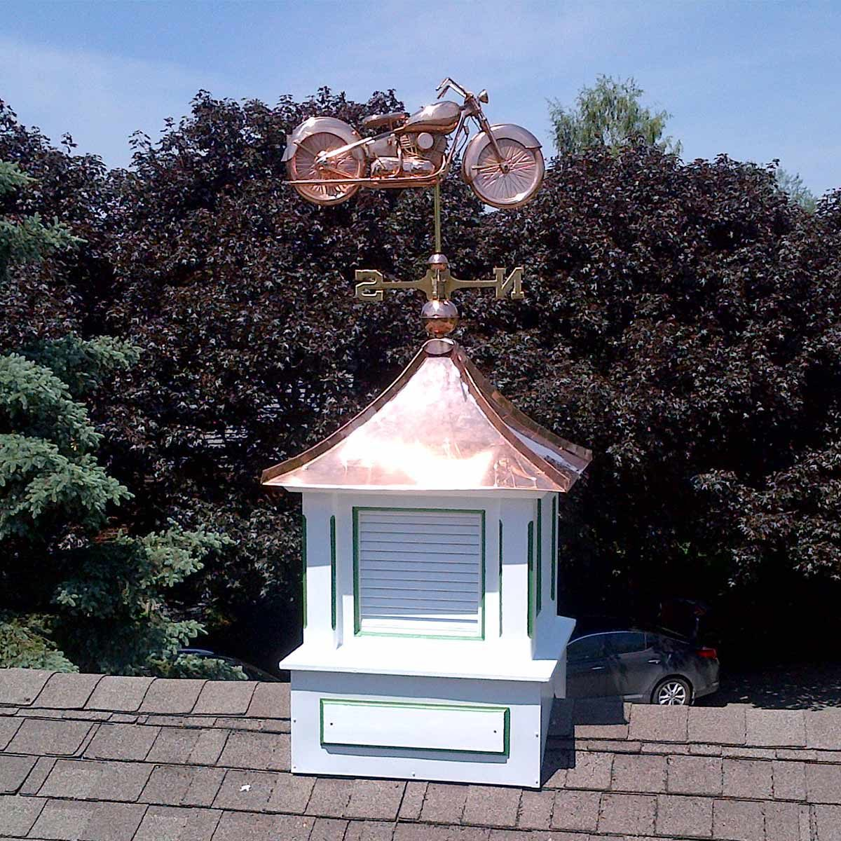 reader cupola with copper top