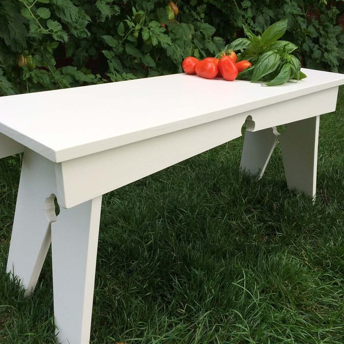North Woods Bench in White
