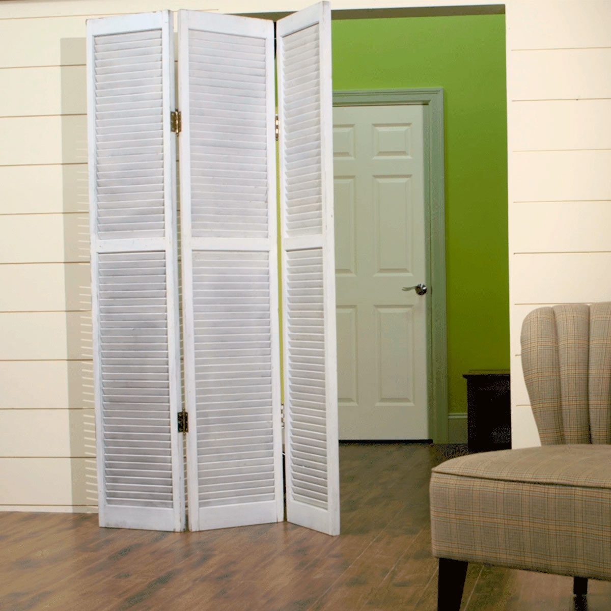 Privacy Screen With Salvaged Closet Doors The Family