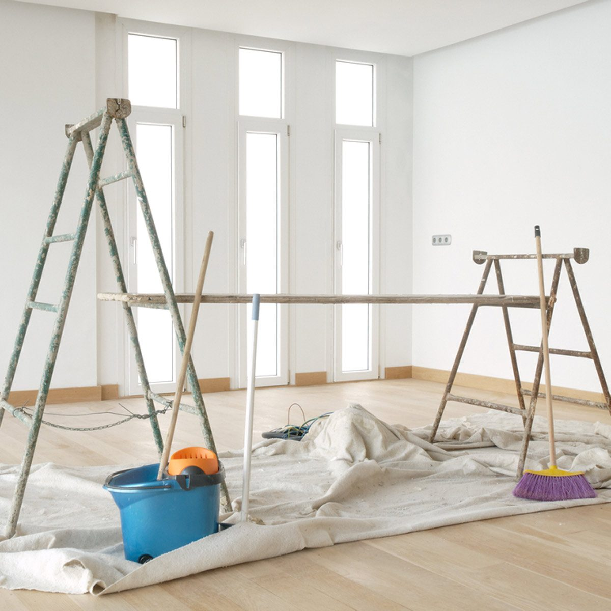 How to Prep for Painting: Ladders and Scaffold