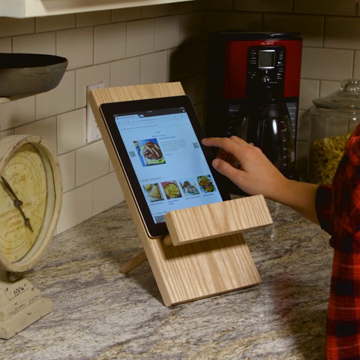 Simple Tablet Stand For The Kitchen The Family Handyman