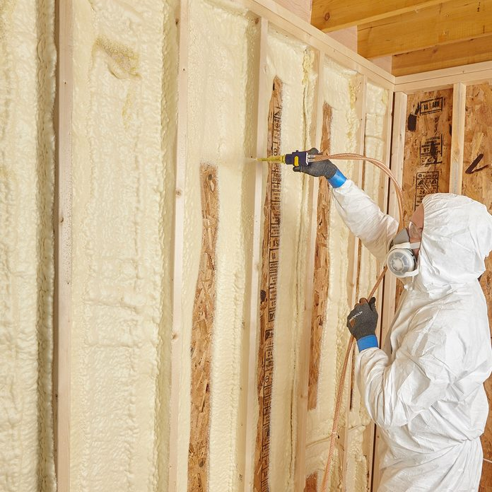 Spraying two inch lifts | Construction Pro Tips