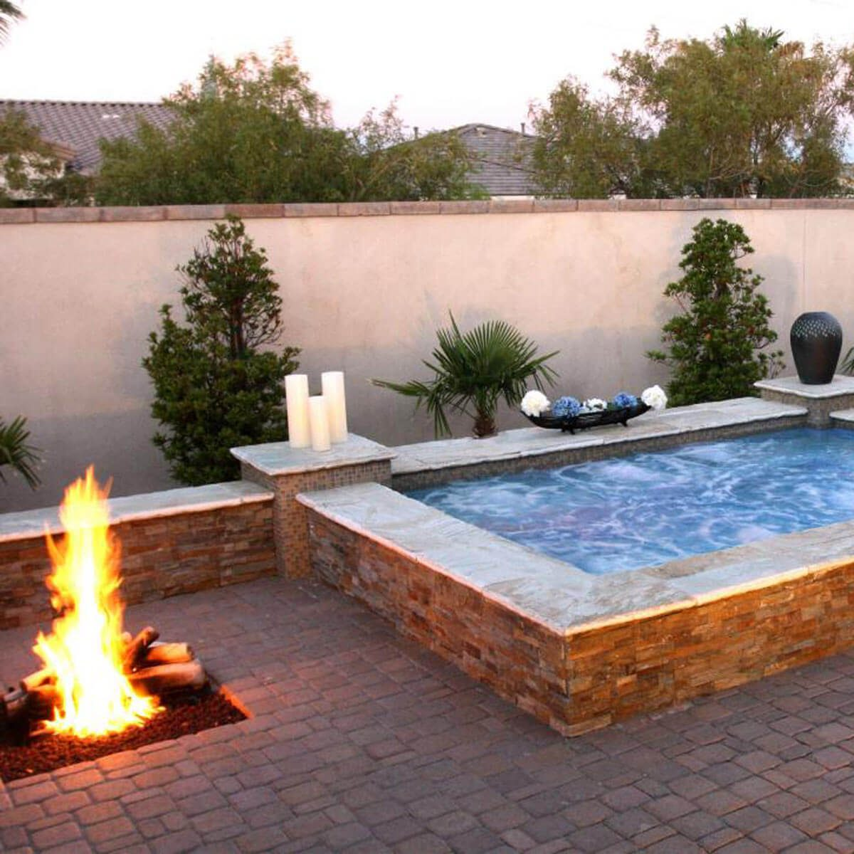 Cool Fire Pit Ideas: Spa Fire Pit