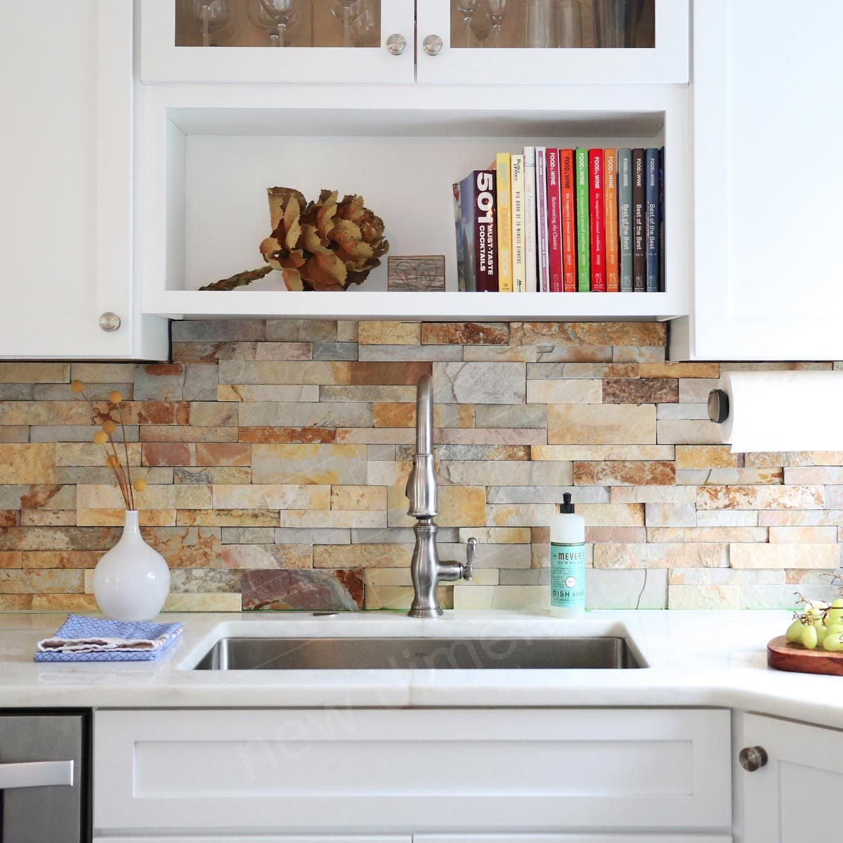 Kitchen Backsplash Rock: 12 Awesome Backsplashes That Aren't Tile