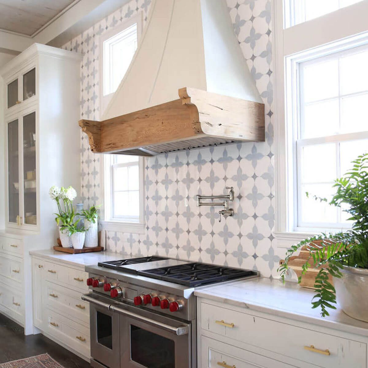 The 30 Backsplash Ideas Your Kitchen Can't Live Without ... Ideas For Decorating Above Kitchen Stove Backsplash on cabinets above stove, lighting above stove, backsplash behind stove, tile mural above stove, subway tile above stove, decorative tile above stove, microwave above stove, accent tile above stove,
