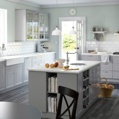 17oct82_02 ikea kitchen island with cook book storage shelves kitchen center island