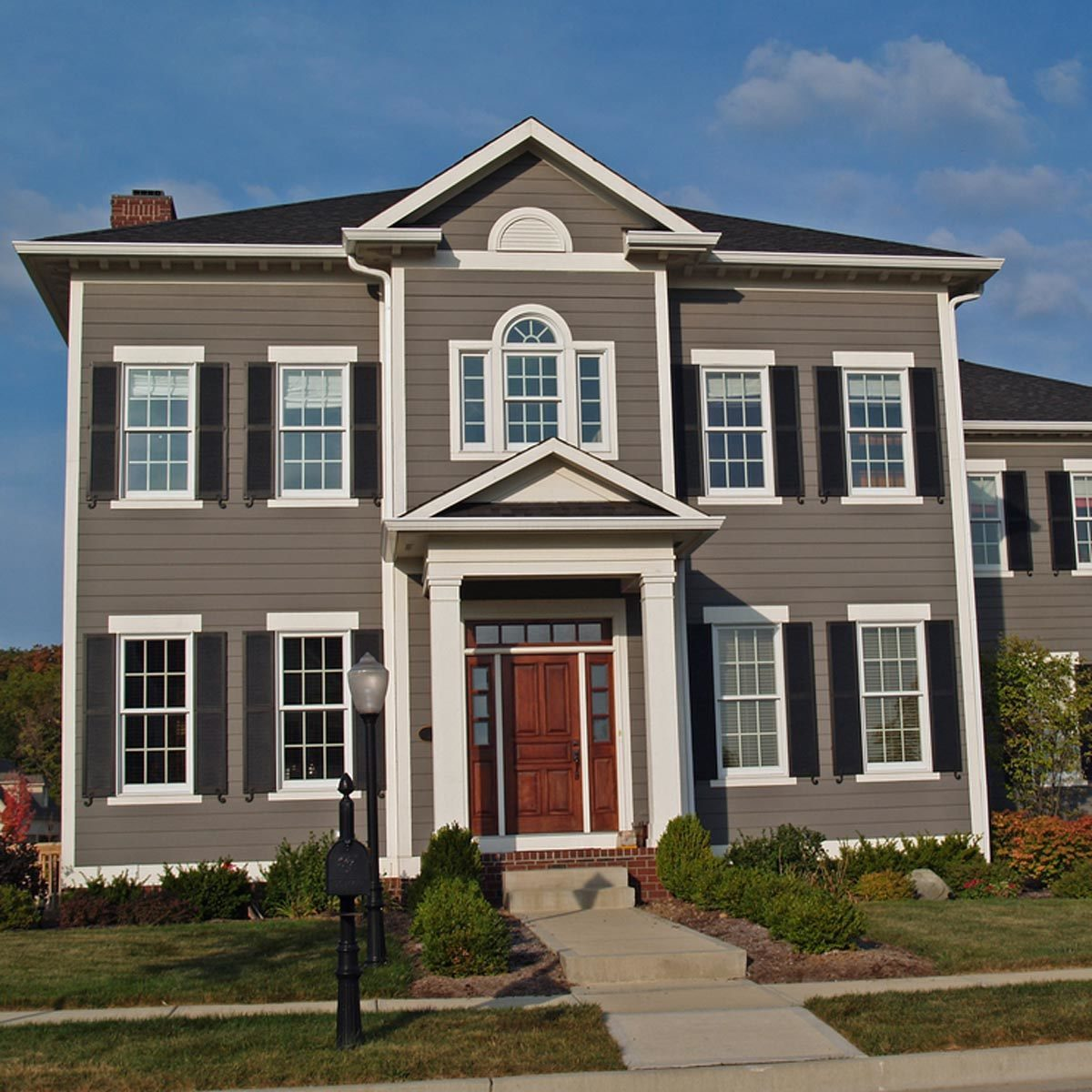 traditional tans and neutrals exterior home house colors