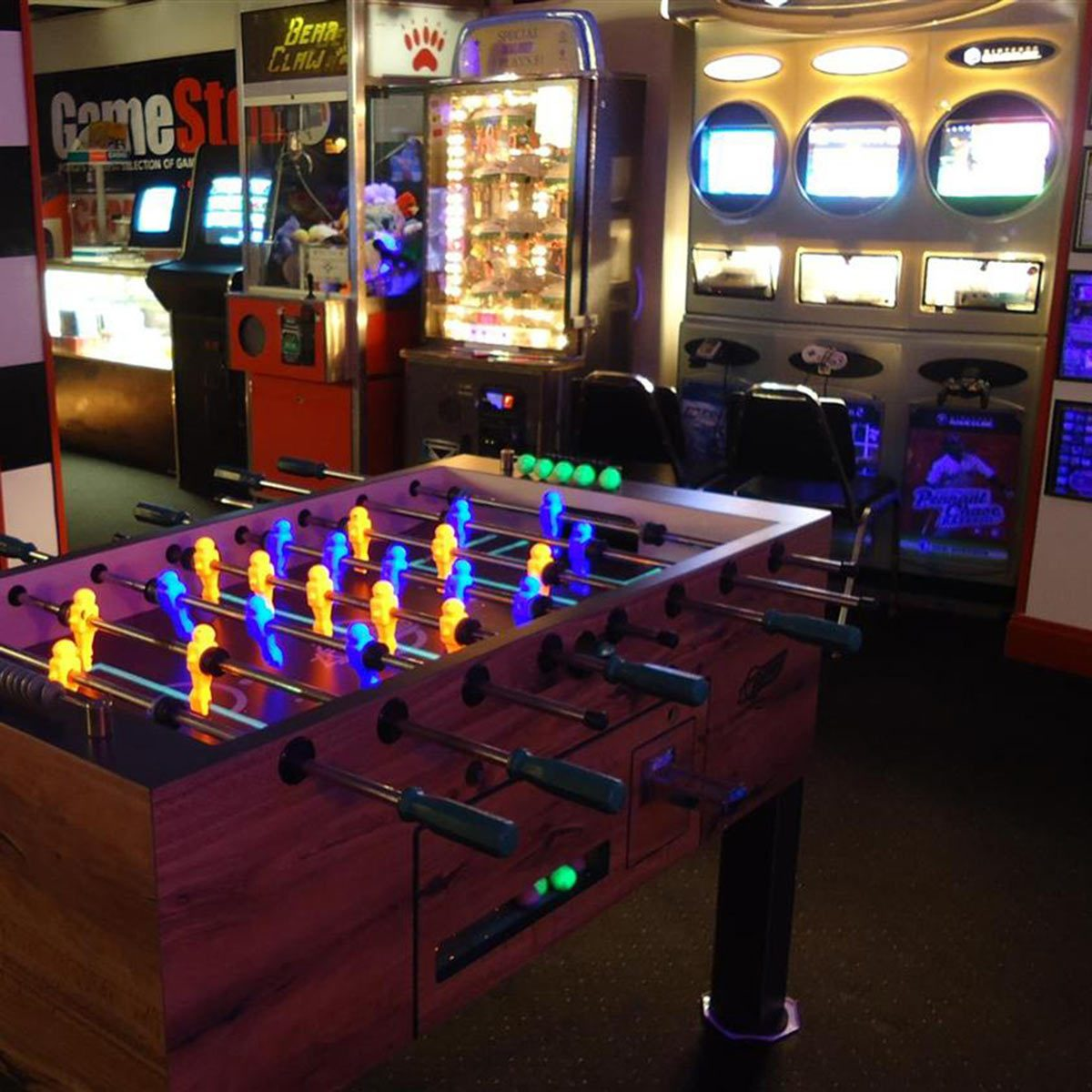 Man Cave Arcade Fuseball and Gaming Room