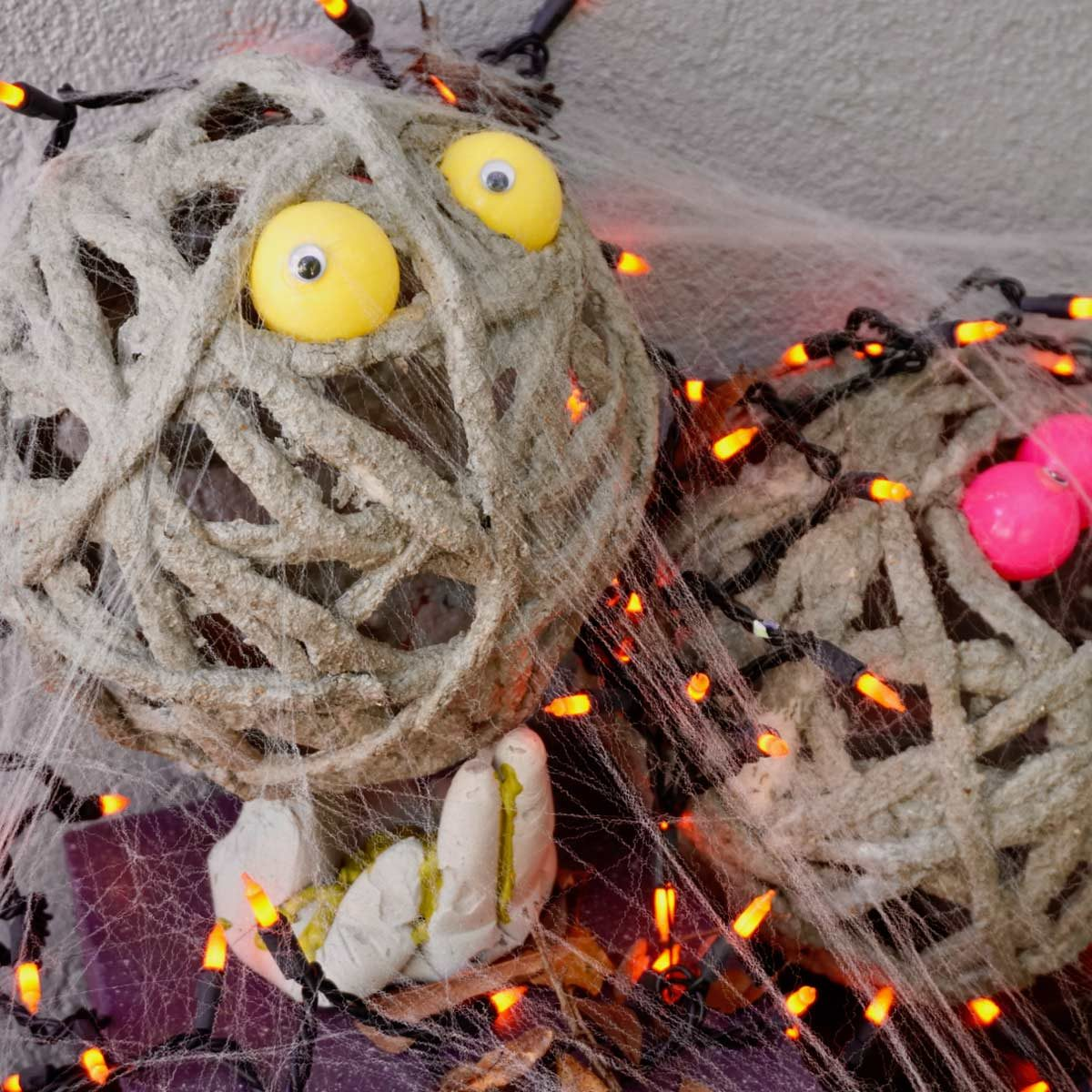 Concrete Mummy Halloween Creations