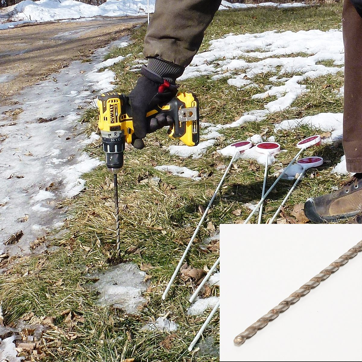 Drilling into frozen ground so posts can be planted | Construction Pro Tips