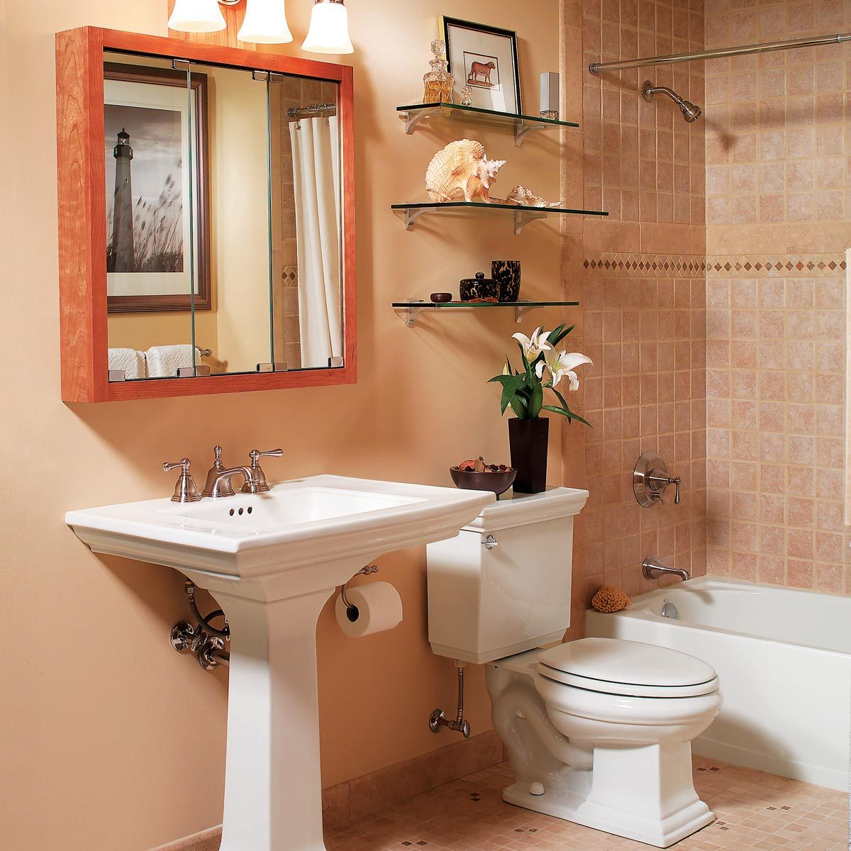 Glass Shelves for Bathroom Storage — The Family Handyman