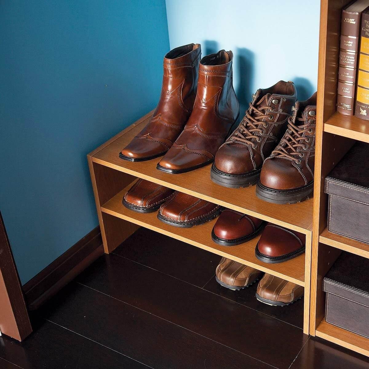 Use Shoe Shelves, not Cubbies