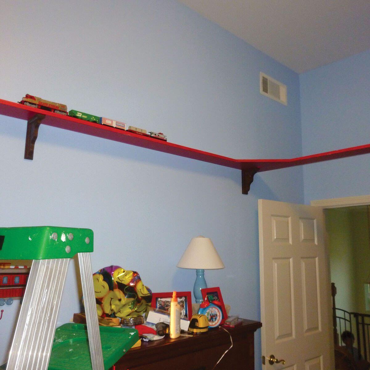 Building bedroom train track