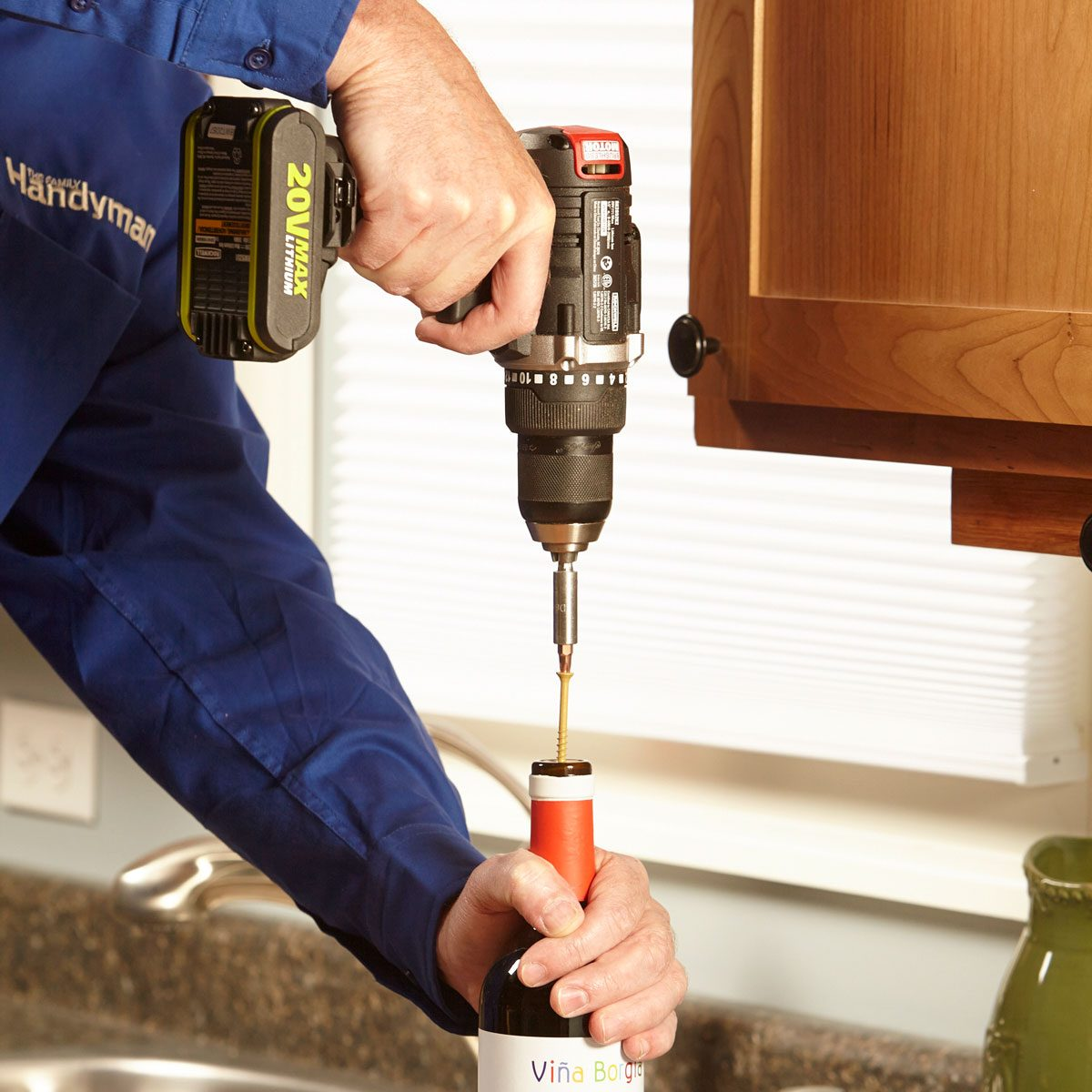 wine bottle opener drill