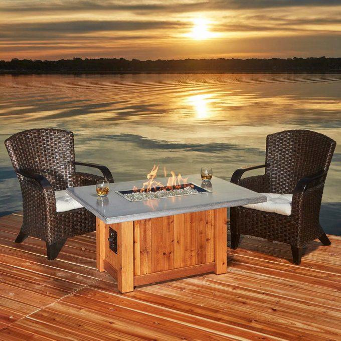 fabulous fire table april 2017 DIY cabin