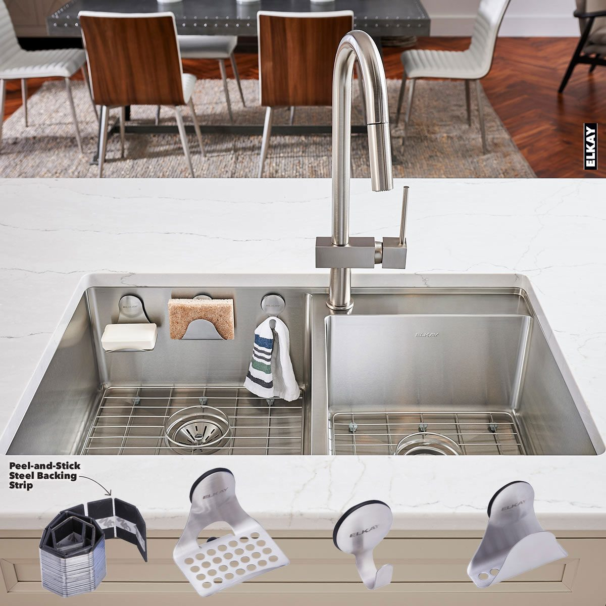 Clever stylish sink accessories