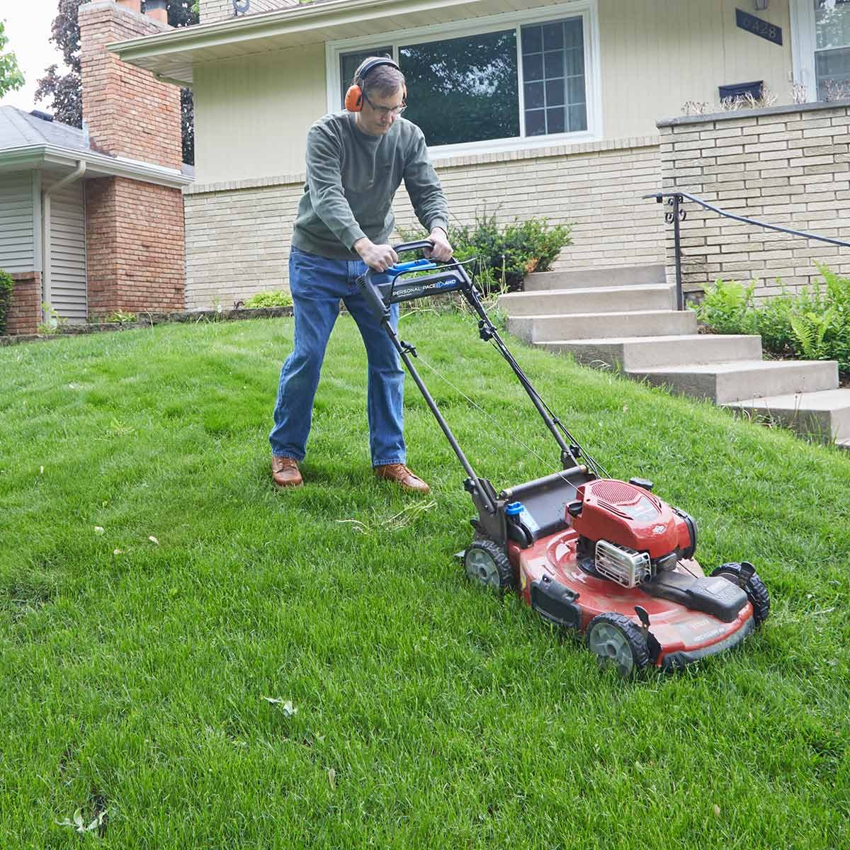 Great mower for hilly yards