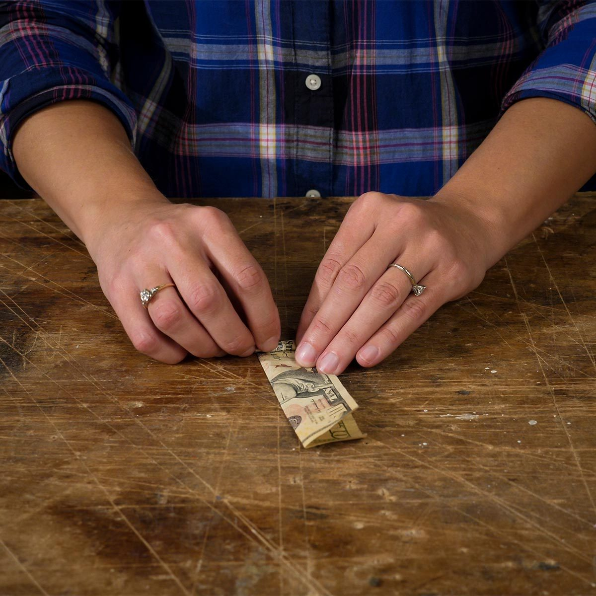 rolling money for cash stash