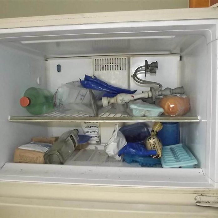 Lamp in the freezer?