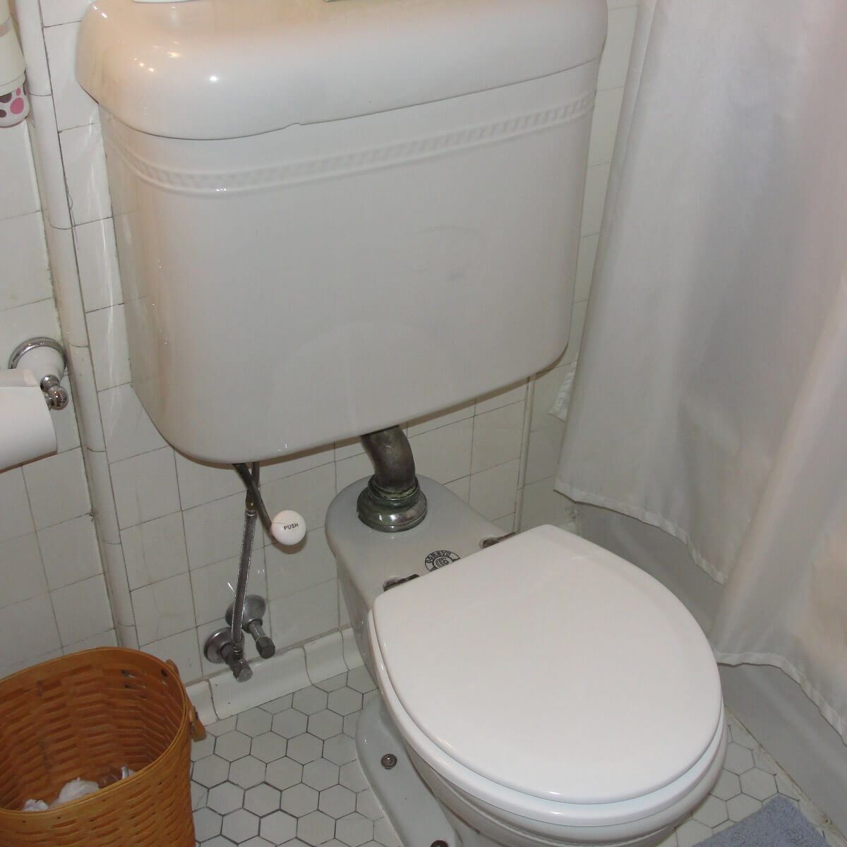 Stick shift toilet