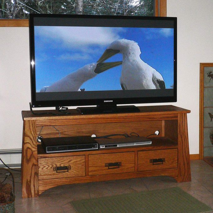 TV cabinet built by reader