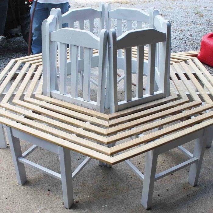 Hexagonal Chair Bench