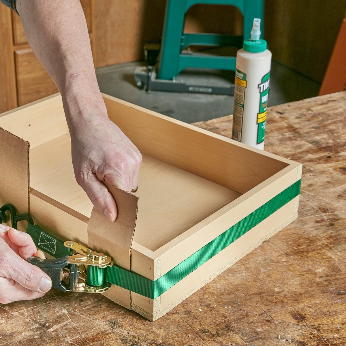 Clamping woodworking projects with a strap | Construction Pro Tips