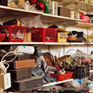 disorganized garage