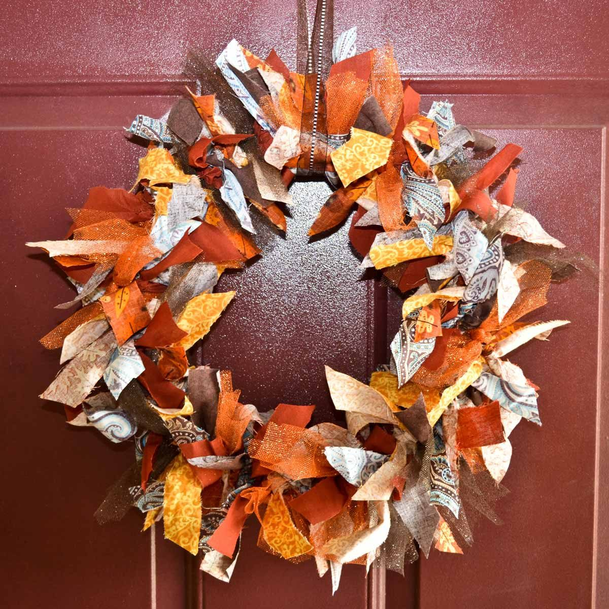 Fabric Fall Wreath