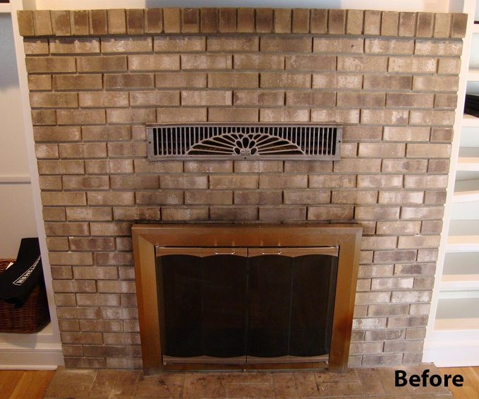 reader fireplace surround before