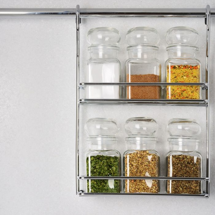 A Hanging Spice Storage Rack