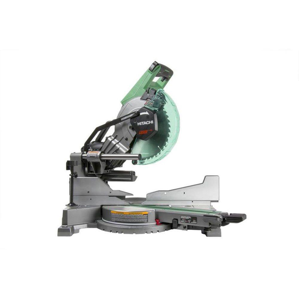 Hitachi 10-in Sliding Laser Compound Miter Saw