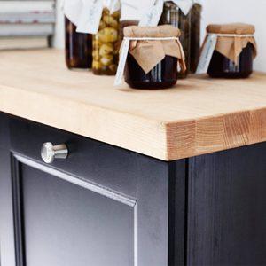 ikea-wood-countertop cheap kitchen countertops alternatives