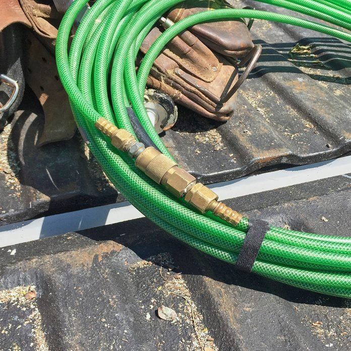 Hoses connected by male/female ends   Construction Pro Tips