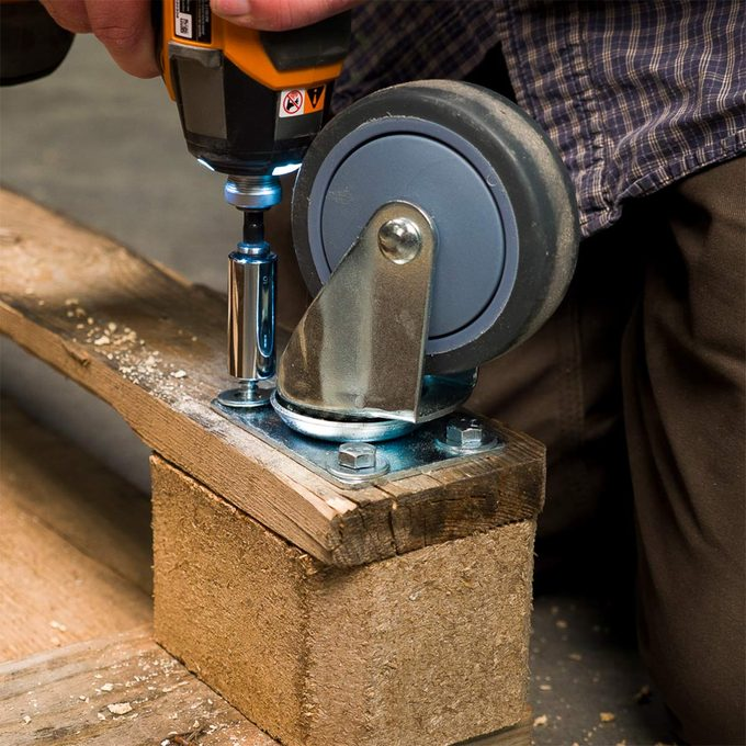adding casters to pallet moving HH