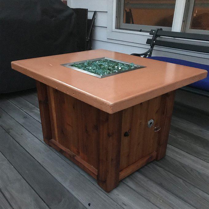 Fancy DIY Fire Table