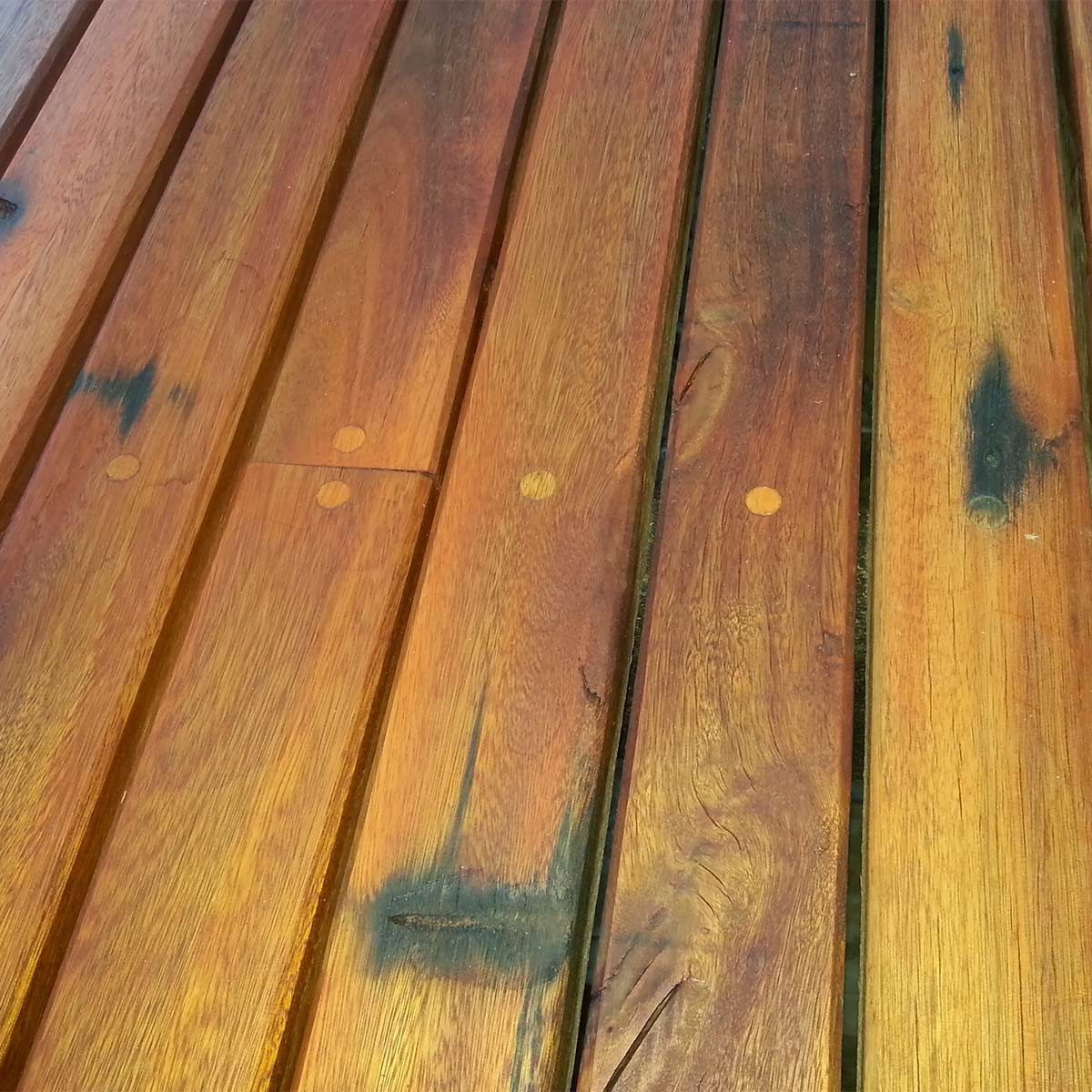 Reader project reclaimed lumber decking the family handyman for Reclaimed decking boards