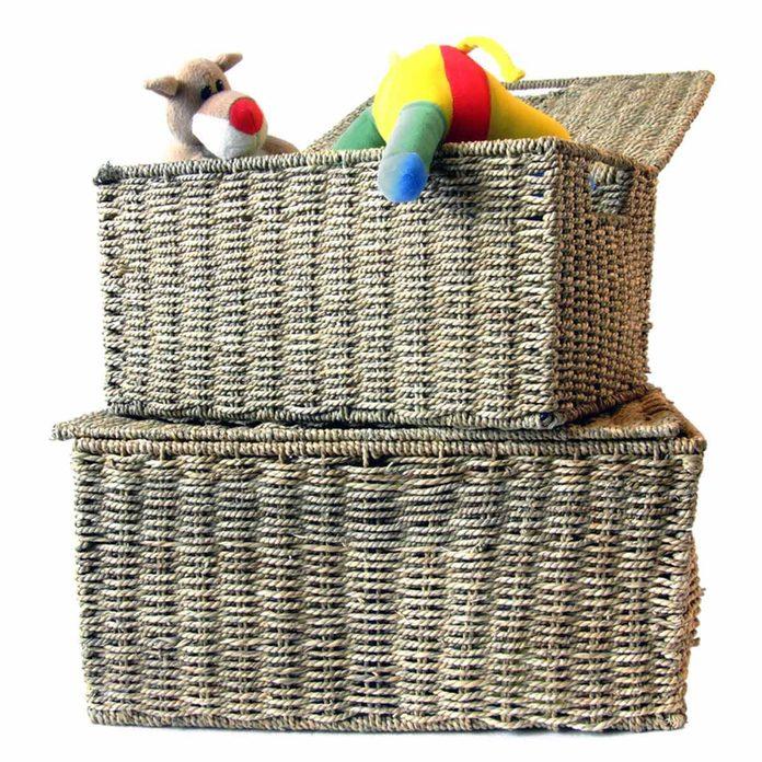 Gather Wicker Baskets for Toy Storage
