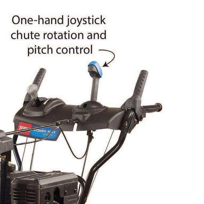 Auto chute rotation and chute pitch controls speed up the job