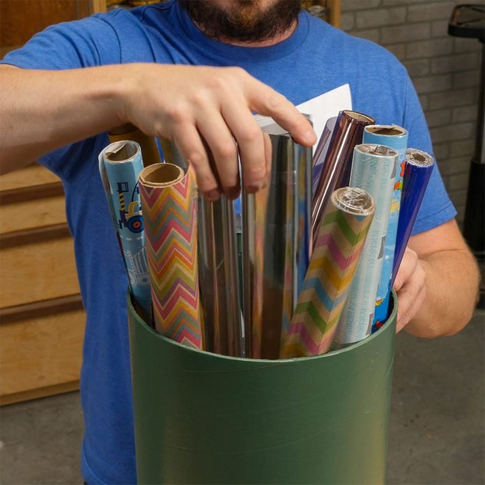 Concrete Form Wrapping Paper Storage