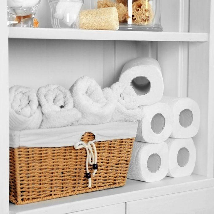 stock-bathroom_409075276 toilet paper bathroom organization towels wash clothes