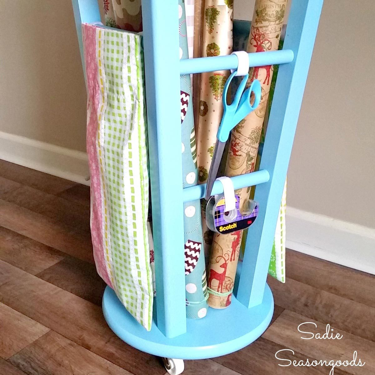 Rolling Wrapping Paper Organizer