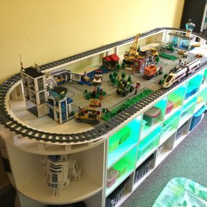 Lego table train tracks