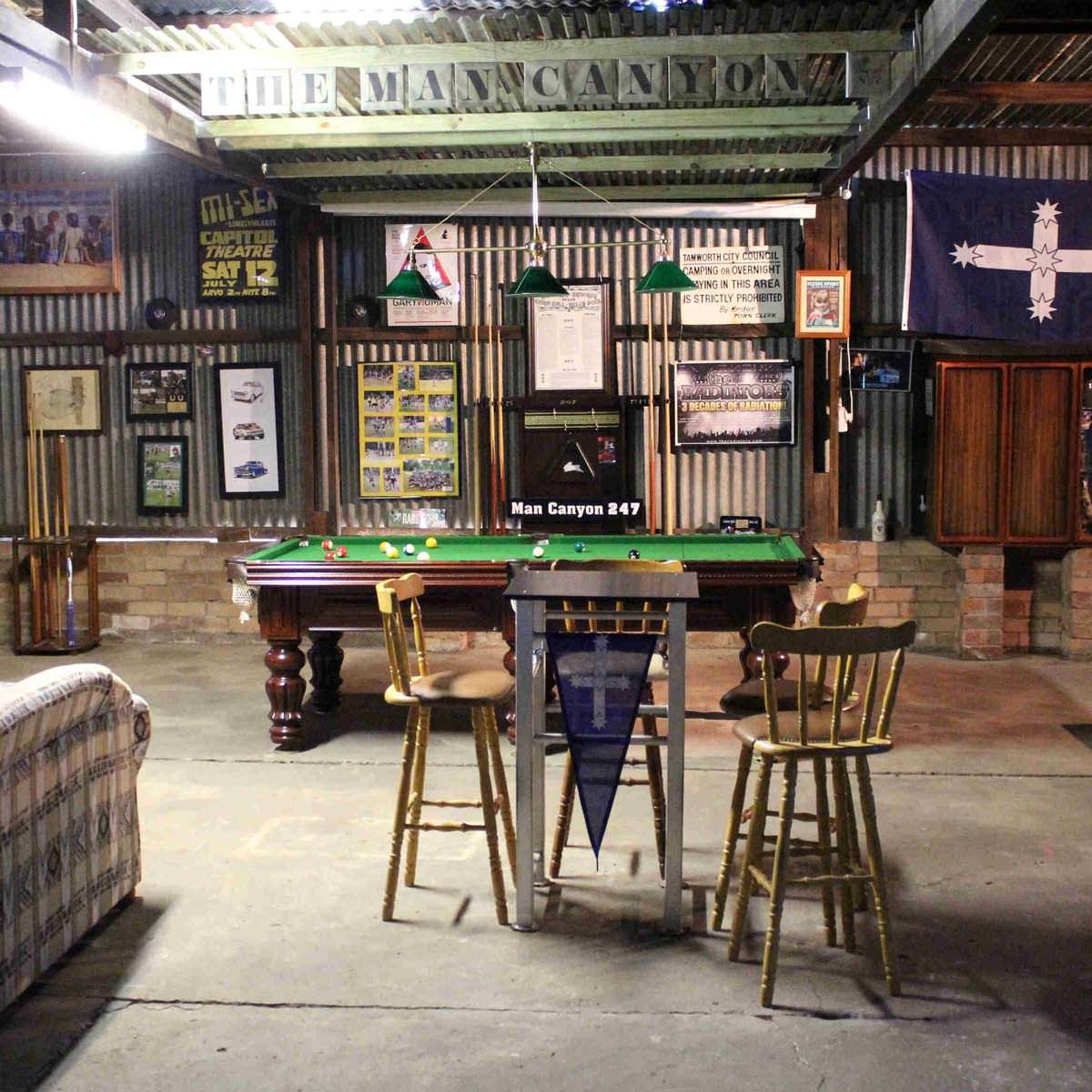 15 awesome man cave spaces for watching the big game Man cave ideas unfinished basement