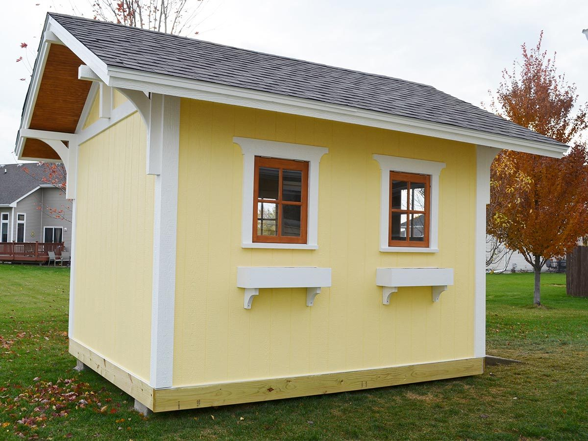 Reader project amazing yellow shed the family handyman for Shed project