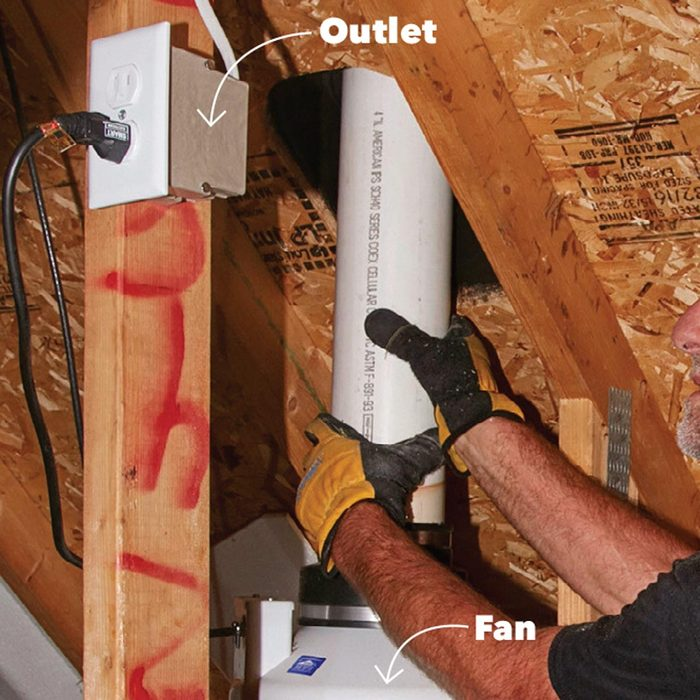 How will you get power to the fan?